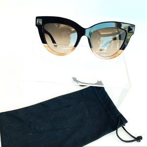 Valentino Womens Black and Brown Frame. Grey lens.